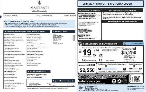 New 2021 Maserati Quattroporte S Q4 GranLusso for sale $122,435 at Aston Martin of Greenwich in Greenwich CT 06830 27