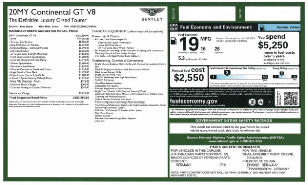Used 2020 Bentley Continental GT V8 for sale $249,900 at Aston Martin of Greenwich in Greenwich CT 06830 28