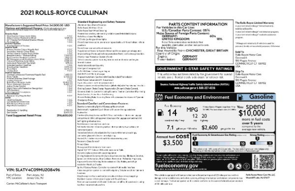 New 2021 Rolls-Royce Cullinan for sale Sold at Aston Martin of Greenwich in Greenwich CT 06830 9