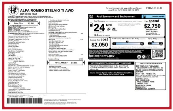 New 2021 Alfa Romeo Stelvio Ti for sale Sold at Aston Martin of Greenwich in Greenwich CT 06830 24