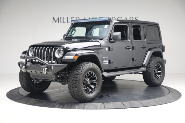 Used 2020 Jeep Wrangler Unlimited Sahara for sale Sold at Aston Martin of Greenwich in Greenwich CT 06830 2