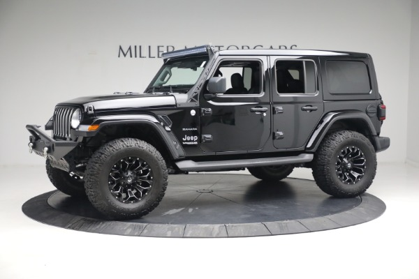 Used 2020 Jeep Wrangler Unlimited Sahara for sale Sold at Aston Martin of Greenwich in Greenwich CT 06830 3