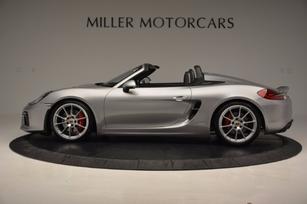Used 2016 Porsche Boxster Spyder for sale Sold at Aston Martin of Greenwich in Greenwich CT 06830 3