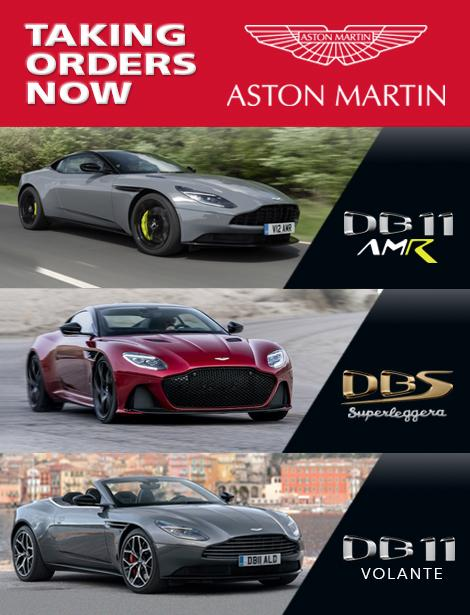 Now Taking Orders DB11 AMR, DBS Superleggera, DB11 Volante